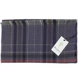 Robert Graham Lewis Purple Wool Scarf