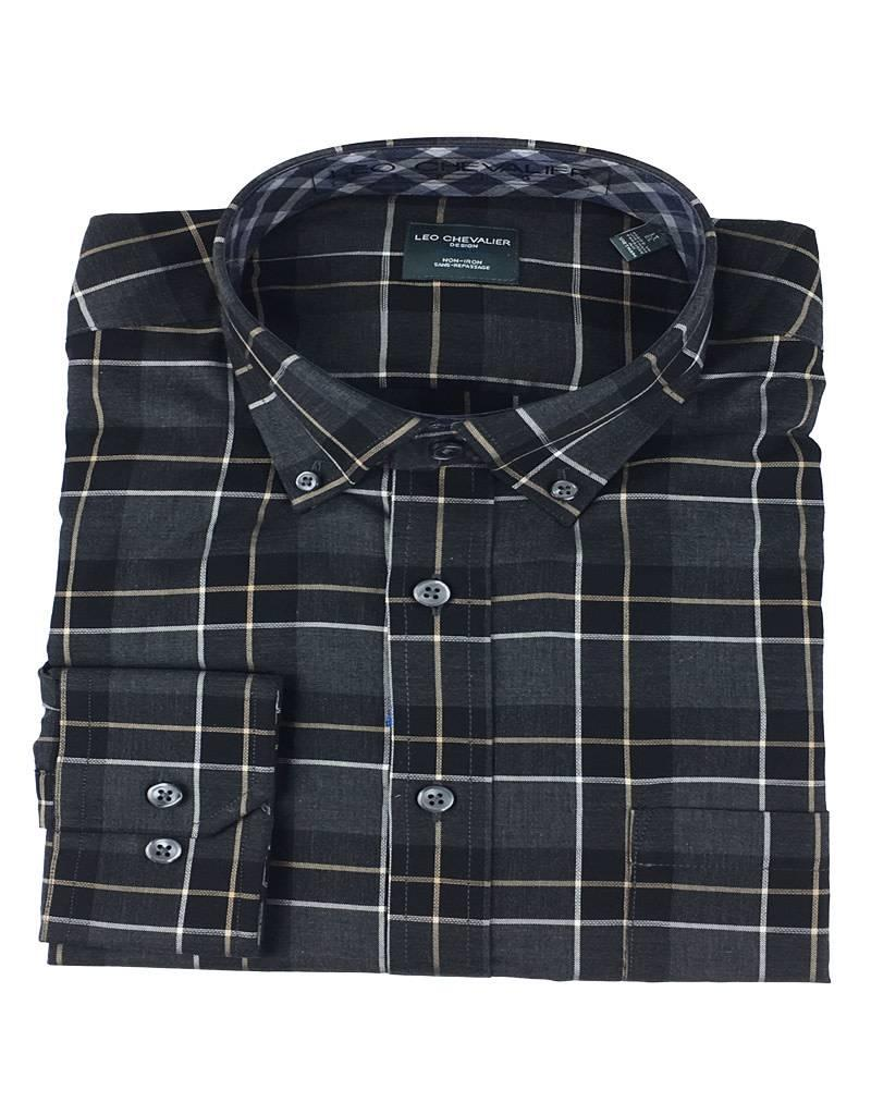 Leo Chevalier Leo Chevalier LS Non-Iron BD Black Plaid