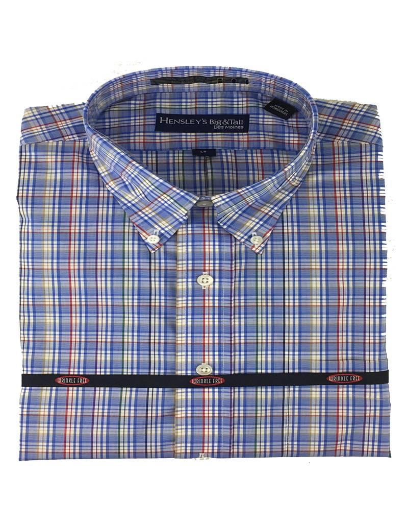Hensley Hensley's LS Cool Max Perform Twill Royal