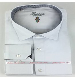 Luchiano Visconti Luchiano Visconti LS White Solid Tonal Shirt