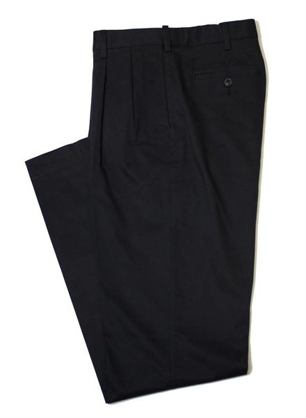 Savane Savane Black Pleat Ultimate Chino