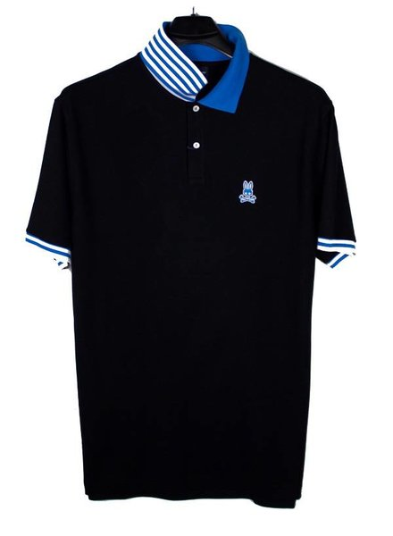Psycho Bunny Psycho Bunny Black Striped Polo