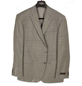 Jack Victor Grey Solid Sportcoat