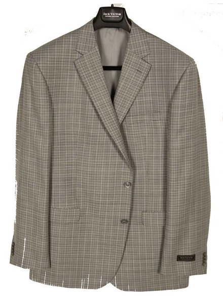 Jack Victor Jack Victor Grey Solid Sportcoat
