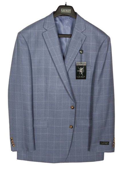 Lauren White/Blue Windowpaine Sportcoat