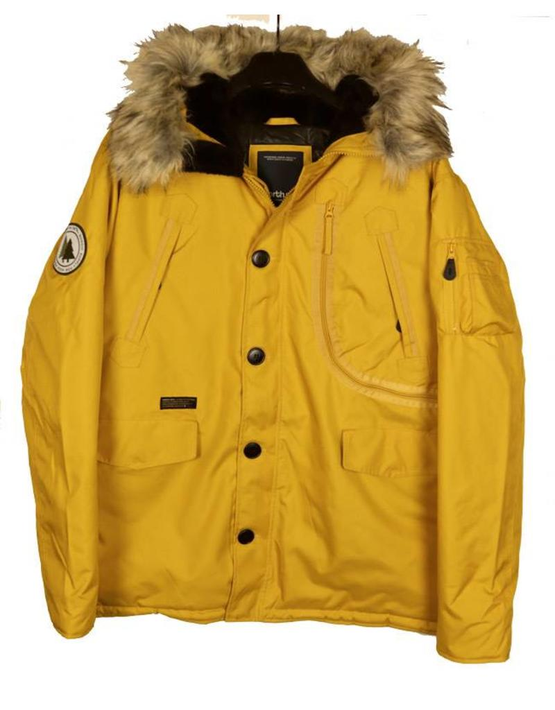 All Size North 56*4 Mustard Hooded Parka