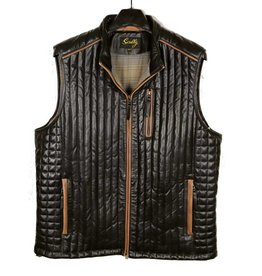 Scully Leather Puffer Vest-B