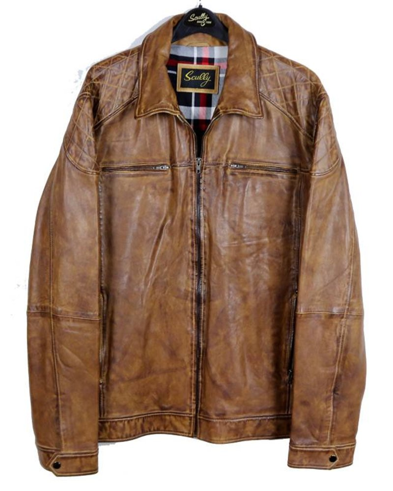 Scully Scully Camel Leather Lambskin Jacket