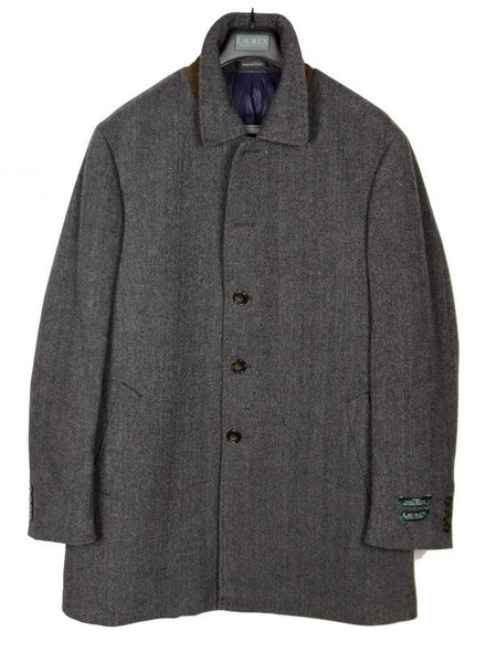 Lauren Ladd Grey Herringbone Coat