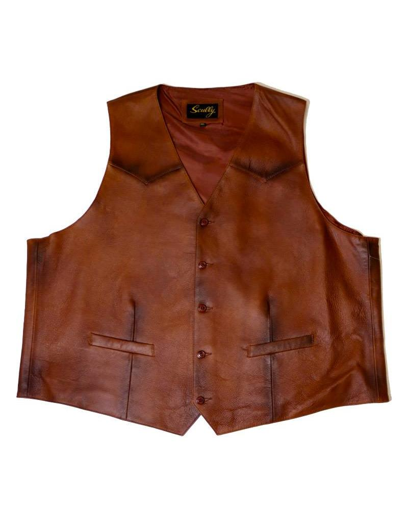 Scully Scully Leather Brown Vest