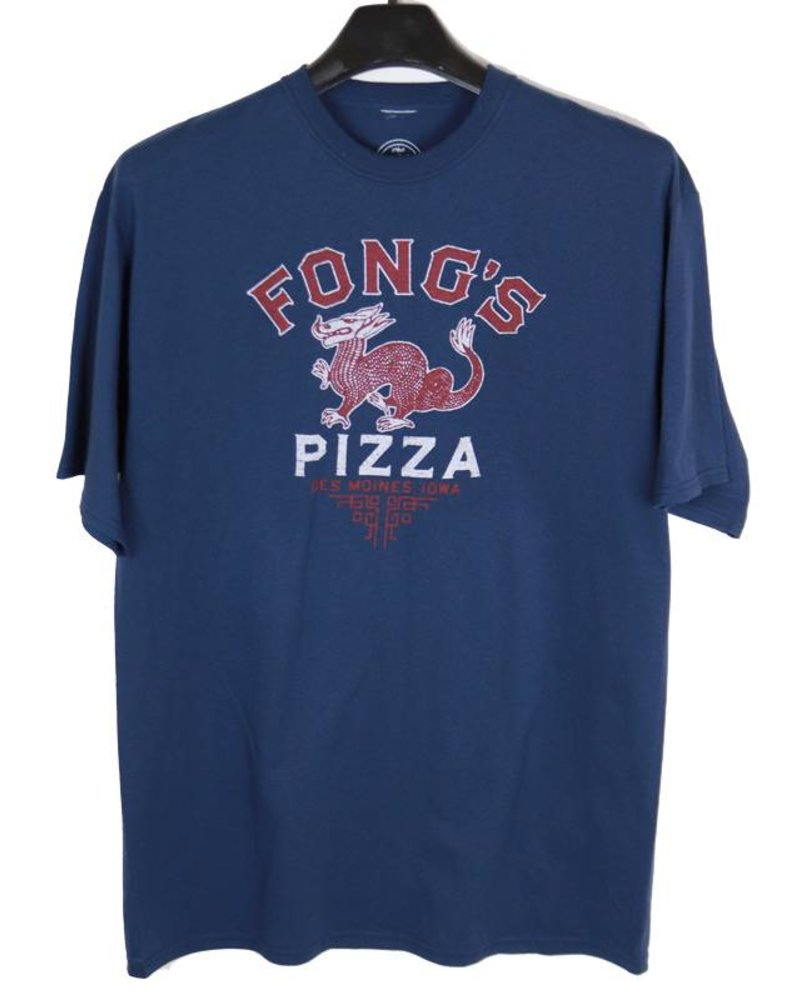 Twin Forks Trading Company Des Moines Fongs Pizza Tee-Navy