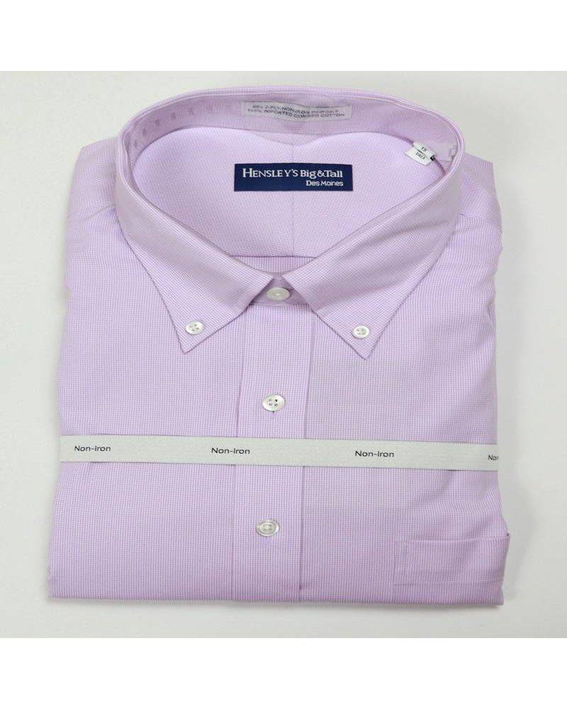 Cooper /& Stewart Big /& Tall Mini Houndstooth Dress ShirtLavender