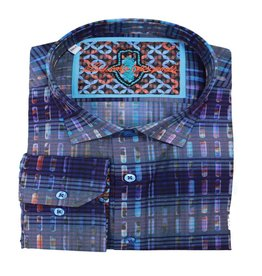 Luchiano Visconti Luchiano Visconti LS Blue Multi Shirt