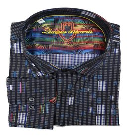 Luchiano Visconti Luchiano Visconti LS Black Multi Shirt