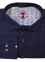 Luchiano Visconti Luchiano Visconti LS Navy Linear Shirt