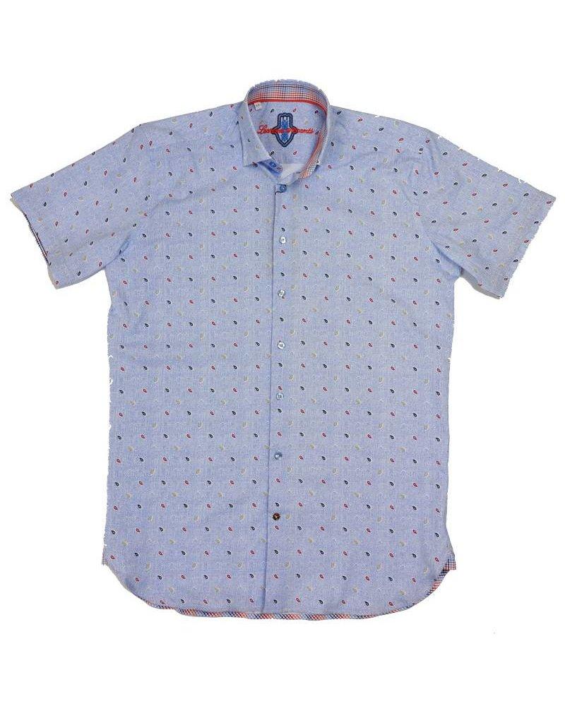 Luchiano Visconti Luchiano Visconti SS Blue Print Shirt