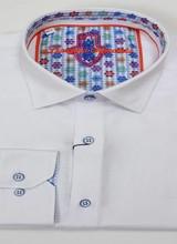 Luchiano Visconti Luchiano Visconti LS White Tonal Shirt
