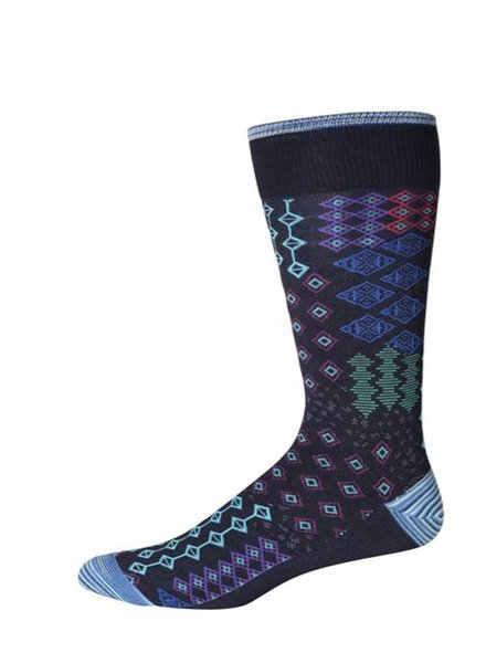 Robert Graham Robert Graham XL Navy Belden Socks