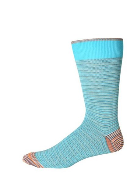 Robert Graham XL Turquoise Tombra Socks