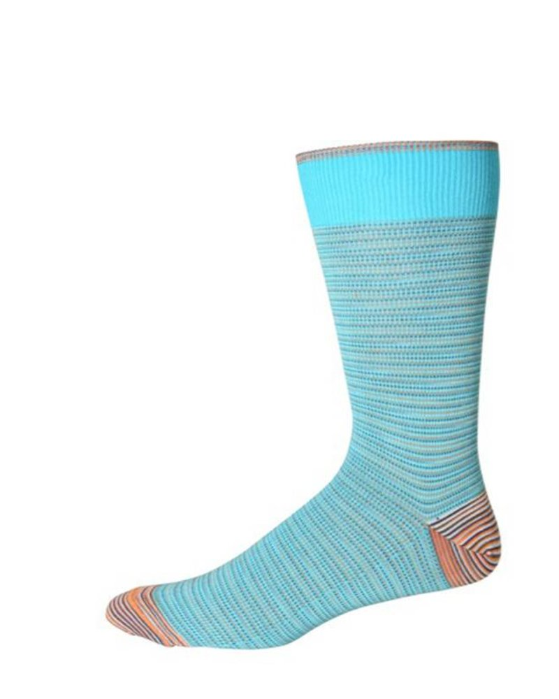 Robert Graham Robert Graham XL Turquoise Tombra Socks