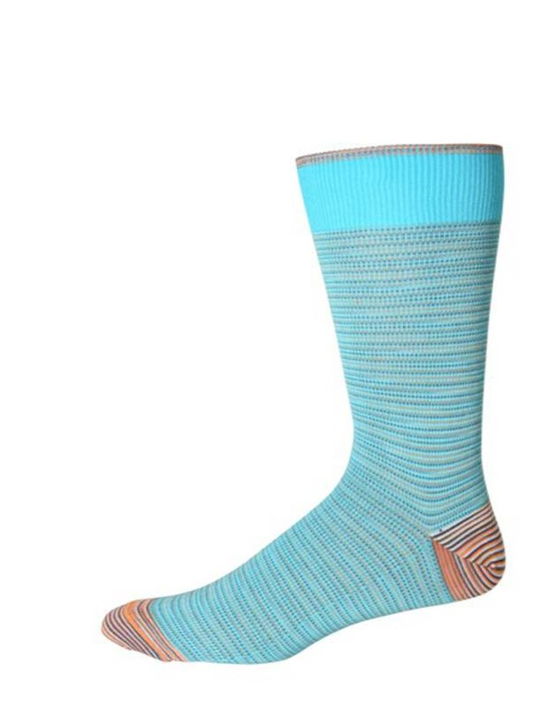 Robert Graham XL Turquoise Tombra Socks