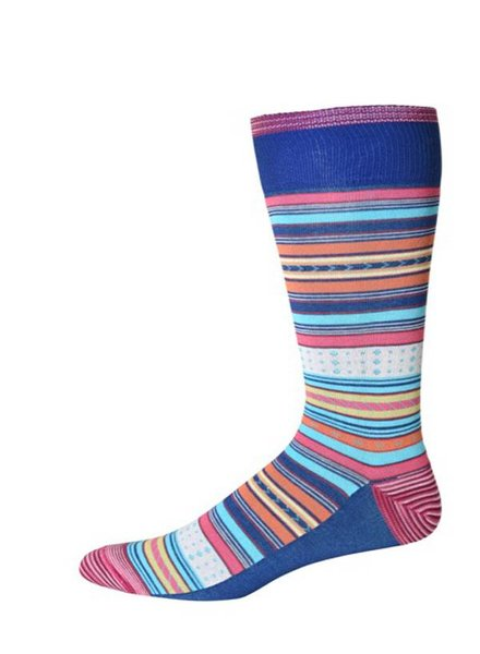 Robert Graham Robert Graham XL Blue Tiller Socks