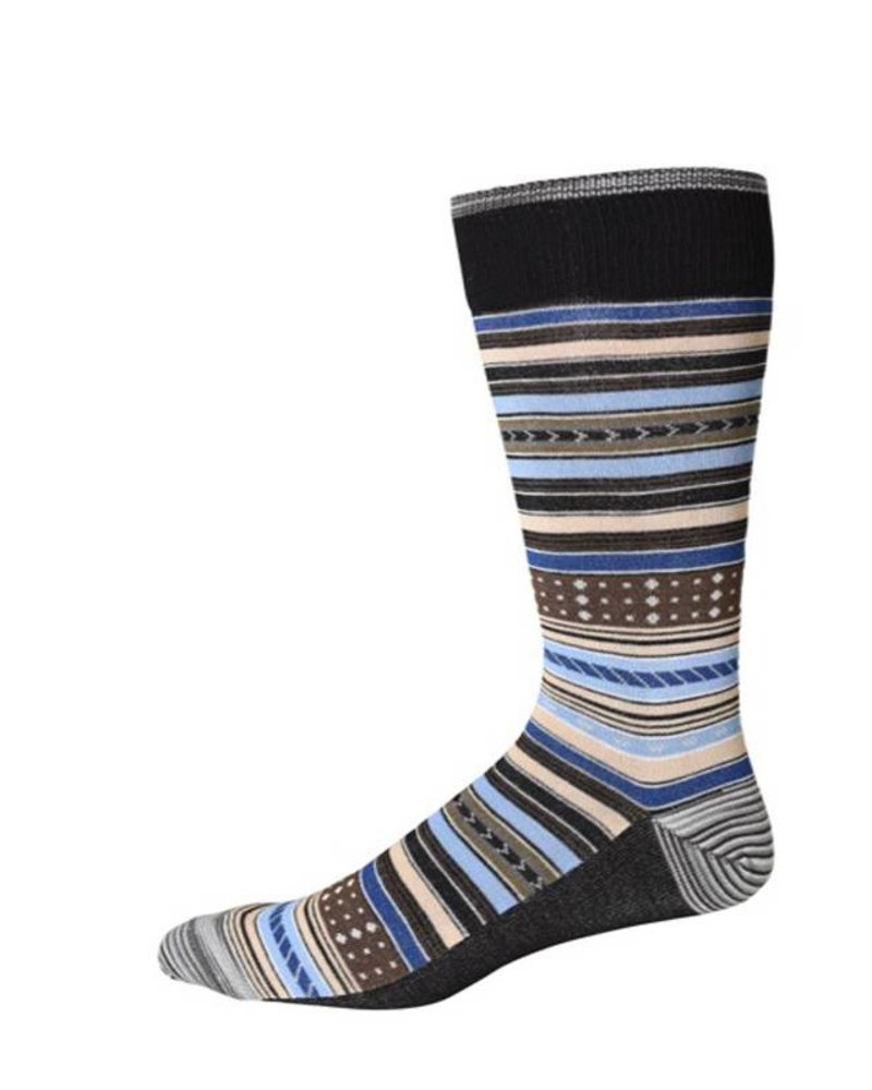 Robert Graham Robert Graham XL Black Tiller Socks