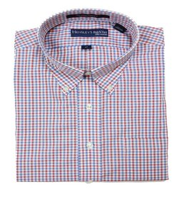 Hensley Hensley's LS Wrinkle Free Red/Blue Plaid