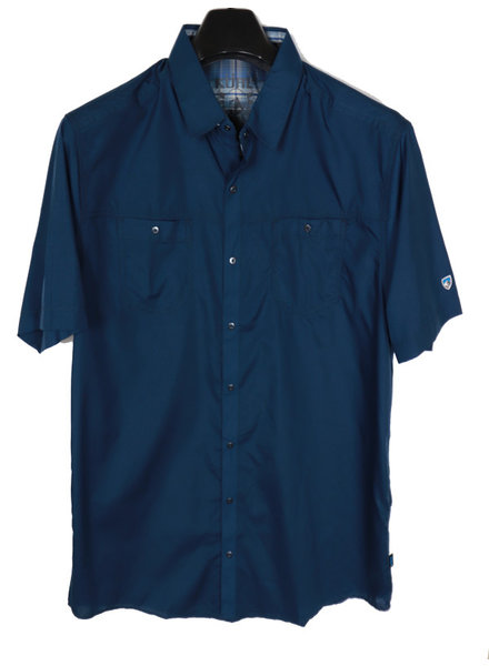 Kuhl SS Blue Solid Shirt