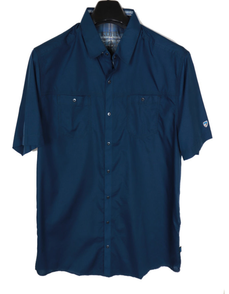 Kuhl SS Blue Solid Shirt