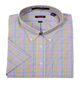 Hensley Hensley's SS Wrinkle Free Pink Check