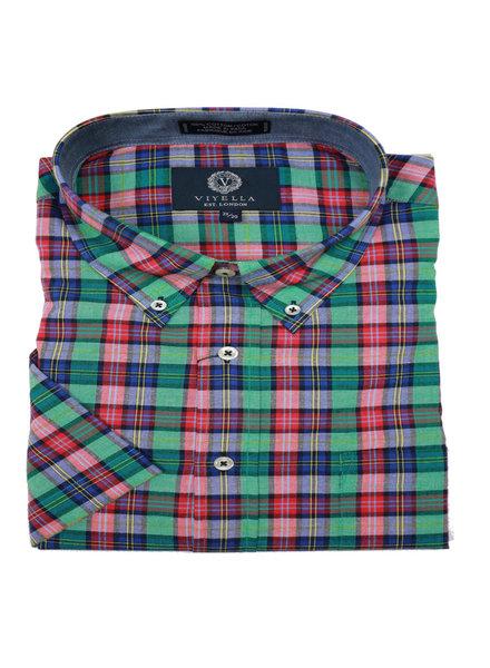 Viyella SS Cotton Madras Multi Check Shirt