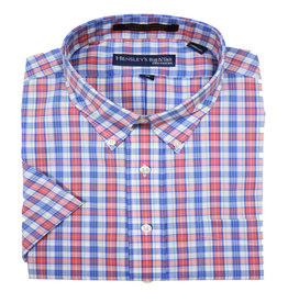 Hensley's Hensley's SS Cool Max Perform Coral Plaid