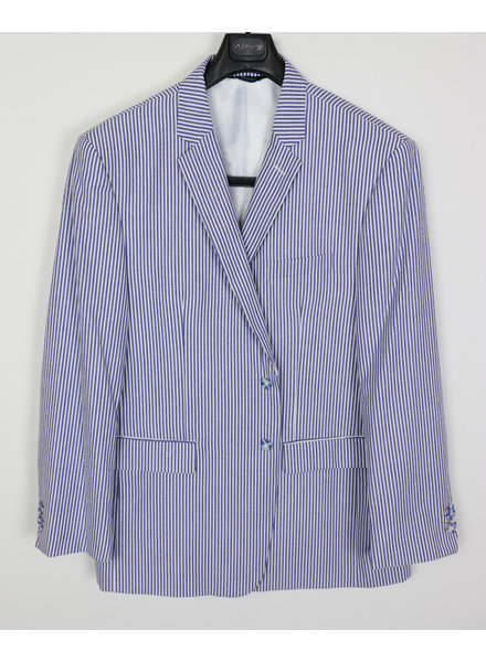 Voyage Blue and White Seersucker Sportcoat