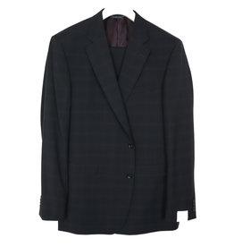Jack Victor Black Tonal Plaid Suit