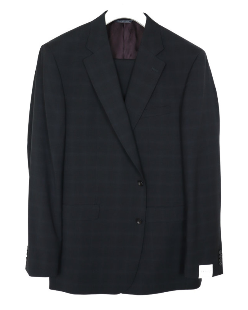 Jack Victor Jack Victor Black Tonal Plaid Suit