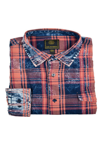 F/X Fusion FX Fusion LS Washed Cotton Plaid-NC