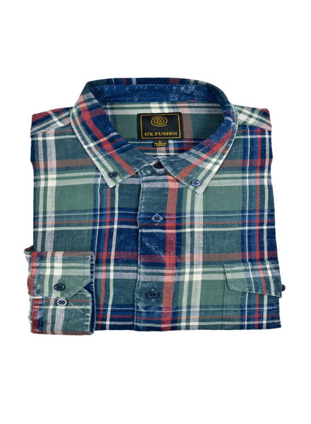 F/X Fusion F/X Fusion LS Washed Cotton Plaid-ON
