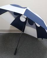 "Gustbuster 62"" Navy/White Pro Series Golf Umbrella"