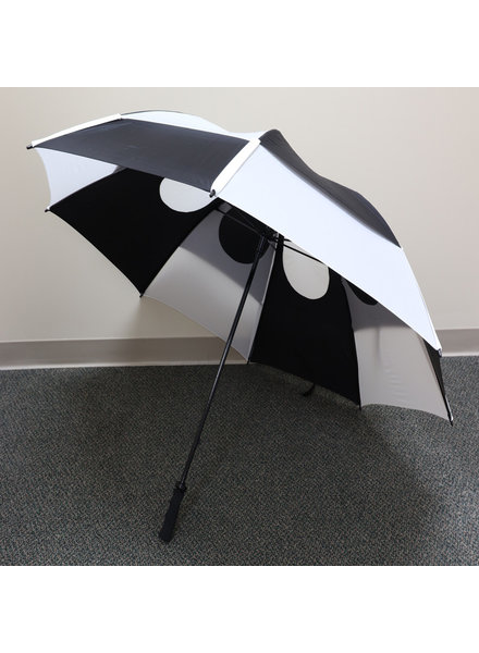 "Gustbuster 62"" Black/White Pro Series Golf Umbrella"