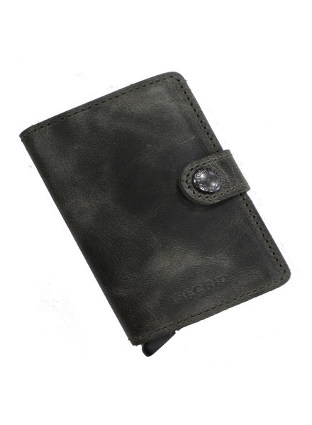 Secrid Vintage Olive-Black Mini Wallet