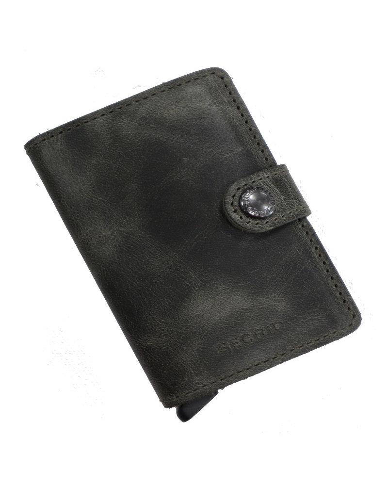 Secrid Vintage Olive-Black Mini Wallet