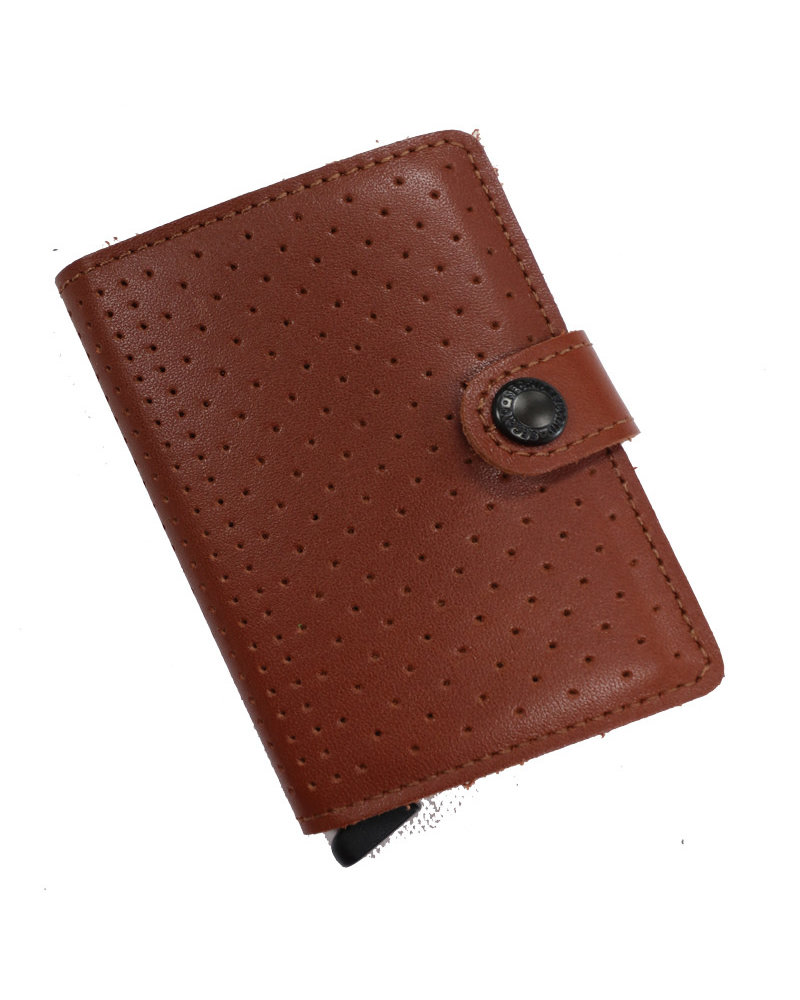 Secrid Perforated Cognac Mini Wallet