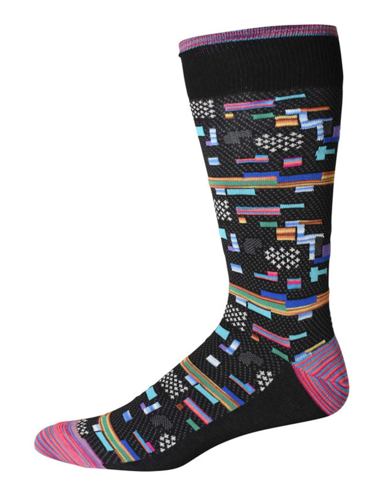 Robert Graham Robert Graham XL Black City Lights Socks