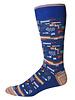 Robert Graham Robert Graham XL Blue City Lights Socks
