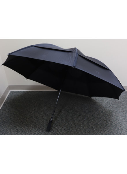 "Gustbuster 62"" Black Pro Series Golf Umbrella"