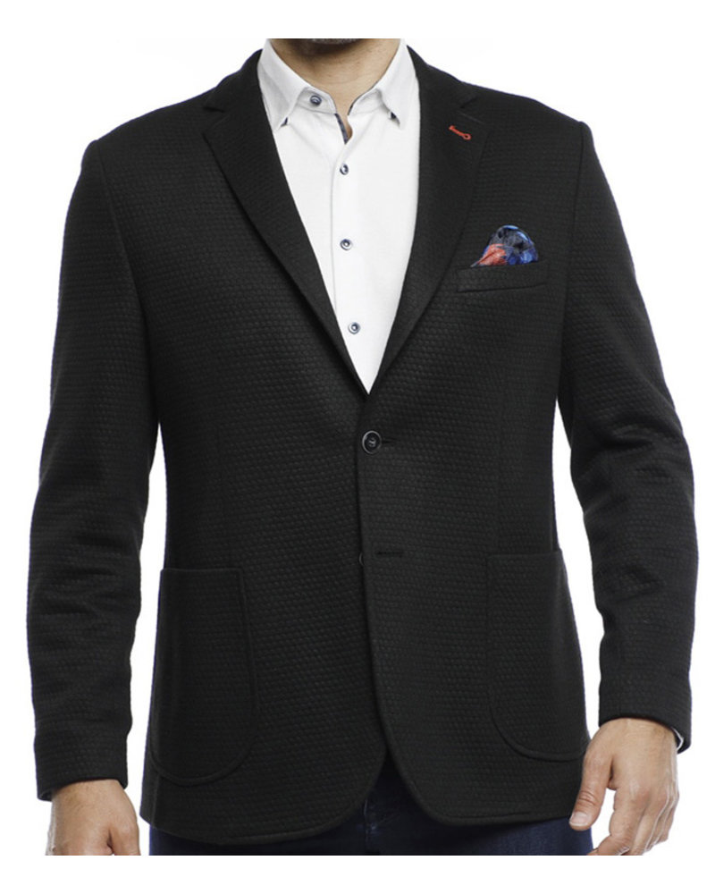 Luchiano Visconti Luchiano Visconti Black Knit Sportcoat
