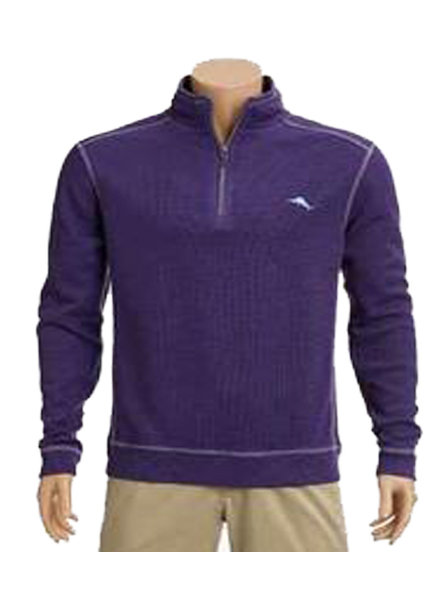 Tommy Bahama Tommy Bahama Tobago Bay 1/2 Zip-Mulberry