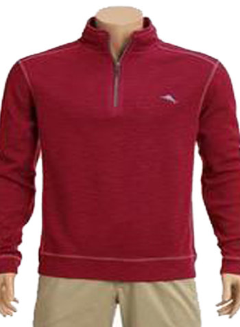 Tommy Bahama Tommy Bahama Tobago Bay 1/2 Zip-Jester Red