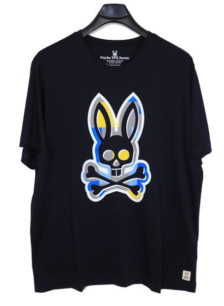Psycho Bunny Psycho Bunny Navy Crew Neck Graphic Tee